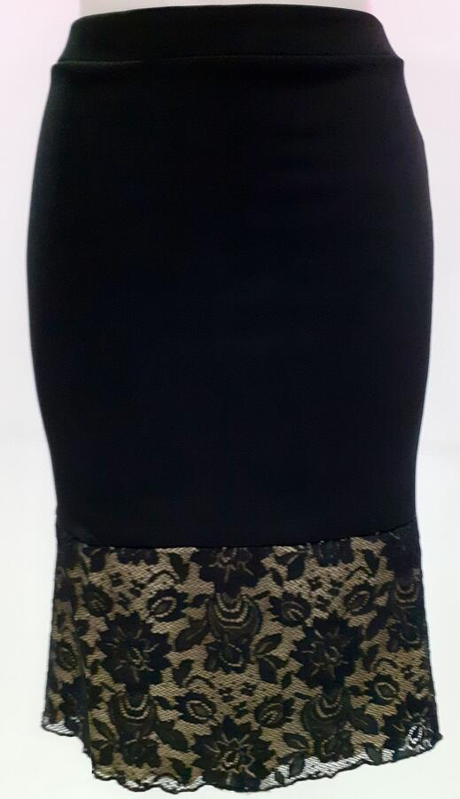 TANGO AND DANCE SKIRT WITH FINAL IN LACE LINED WRAP 2-0044