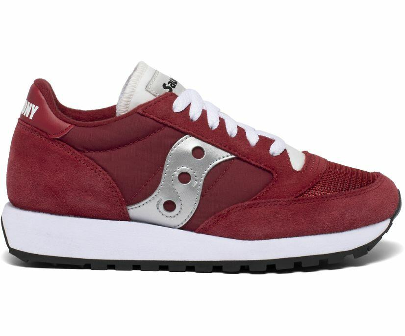 Sneakers Saucony Jazz Original Vintage red rossa e yellow gialla in due varianti da donna S60368