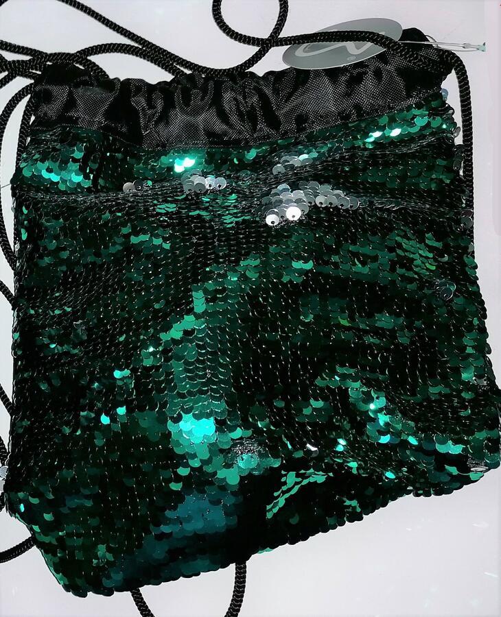 MINI SACCA GLITTERATA CAMBIA COLORE 24 X 19,5 CM MATCHBEUTEL