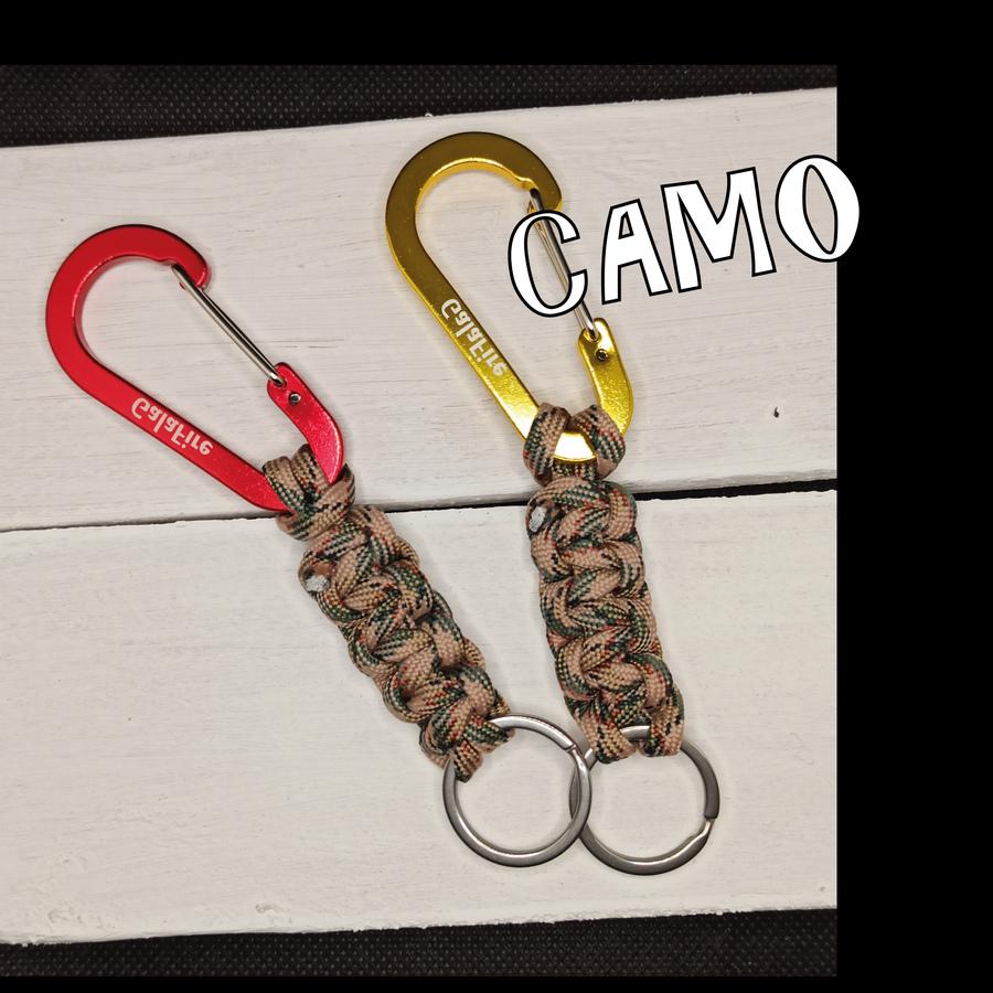 Portachiavi Climber - moschettone e paracord