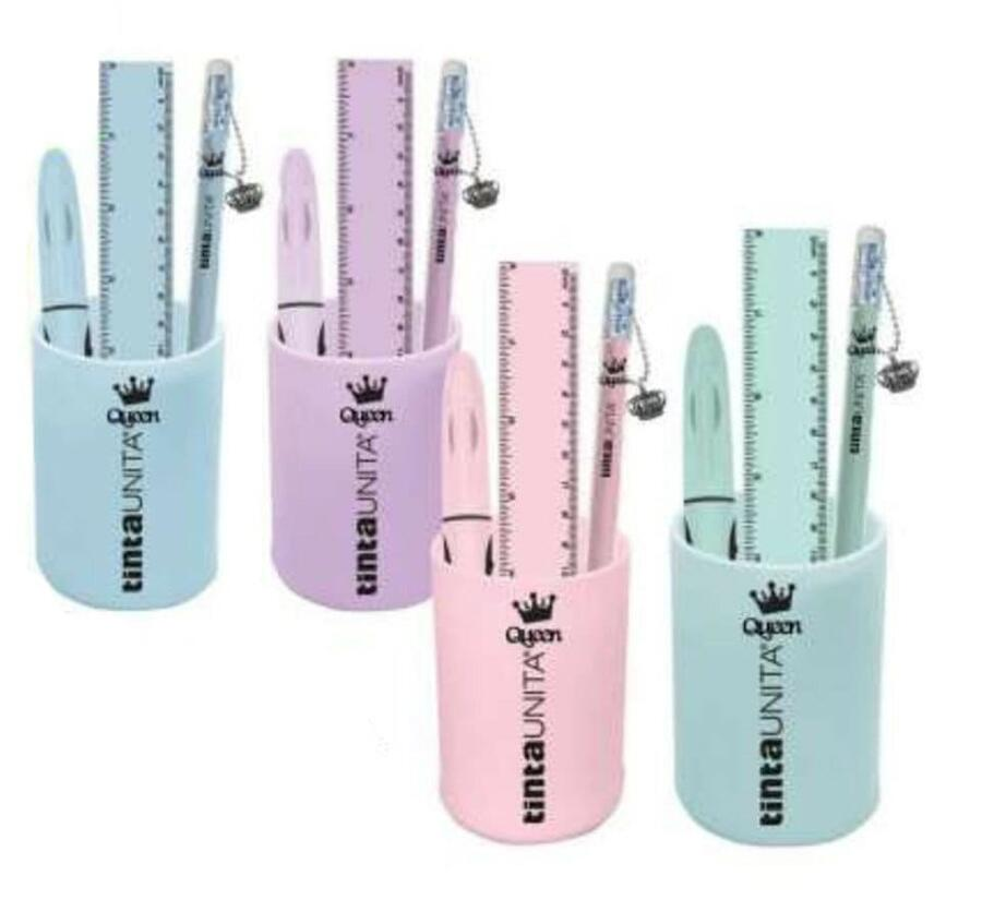 STATIONARY SET BICCHIERE IN SILICONE GIFT BOX IN ACETATO QUEEN & KING POOL OVER