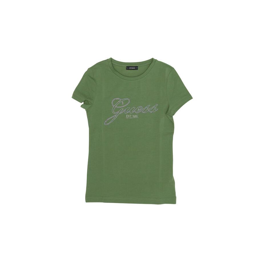 T-SHIRT GUESS CON LOGO IN STRASS - Colori disponibili: 2