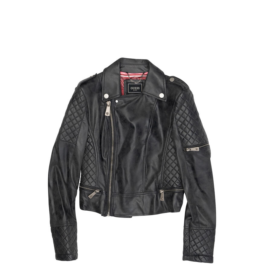 GIACCA BIKER GUESS IN SIMIL PELLE EFFETTO USED