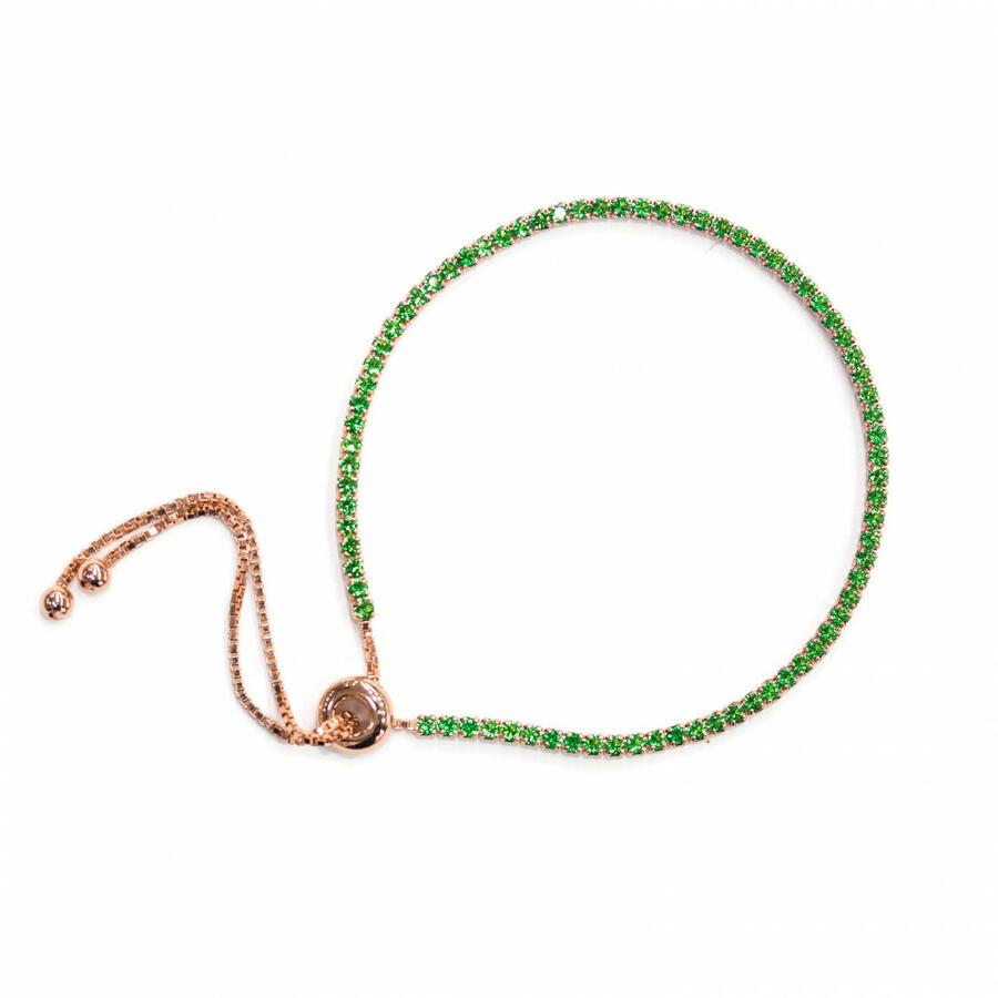 Bracciale tennis in argento 925 bagno oro rosa