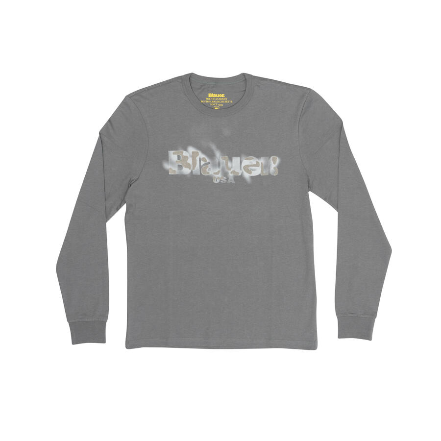 T-SHIRT BLAUER MANICA LUNGA TINTO COTONE - Colori Disponibili: 2