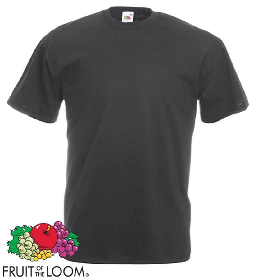 Fruit of the Loom T-Shirt Uomo Basic maglietta tinta unita Lavoro sport work free time