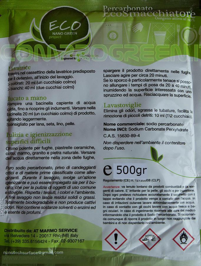 Percarbonato EcoSmacchiatore Ossigeno attivo - EcoNanoGreen