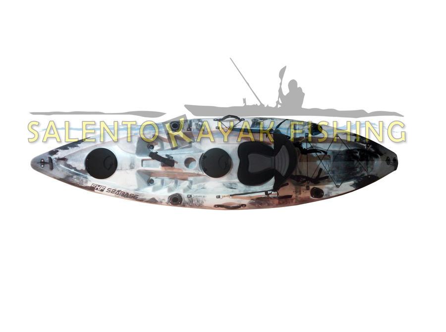 SKF Seabass - Kayak da pesca o turismo - 300 cm - completo accessori
