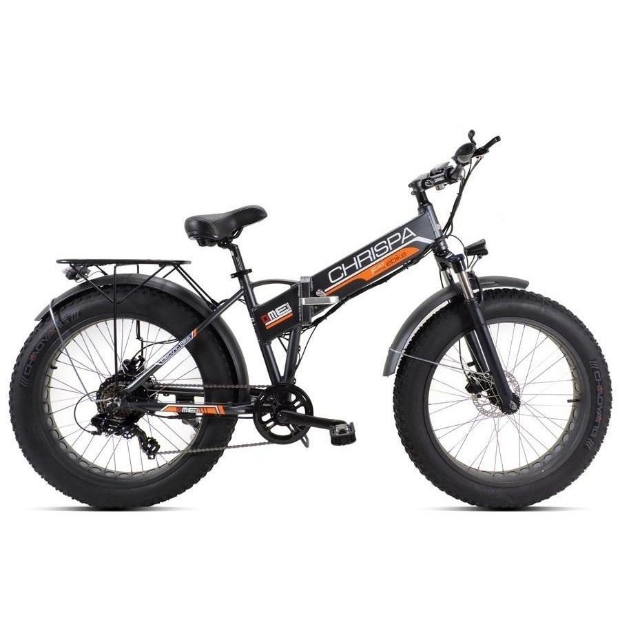 """Bicicletta pedalata assistita  pieghevole DME Fat-Bike 24"""" 250W 48V  Chrispa V3.1"""