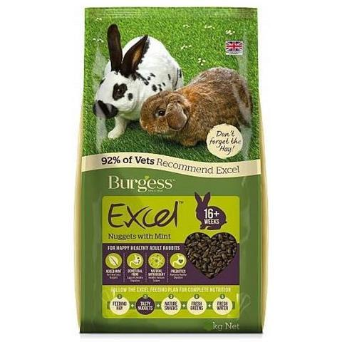 Burgess Adult Rabbit Nuggets with Mint - Kg. 2,00 - Kg. 4,00 - Kg. 10,00