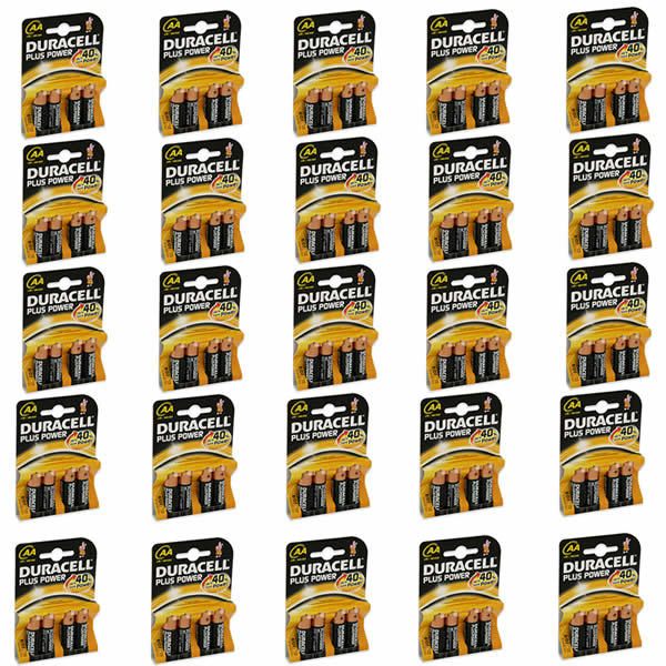 Duracell Batterie stilo AA alcaline mn1500 duracell plus power 1,5 Volt