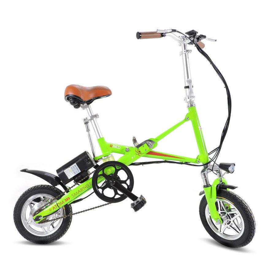 """Bicicletta 16"""" bici pieghevole pedalata assistita batteria litio v1.0 KOPPY"""