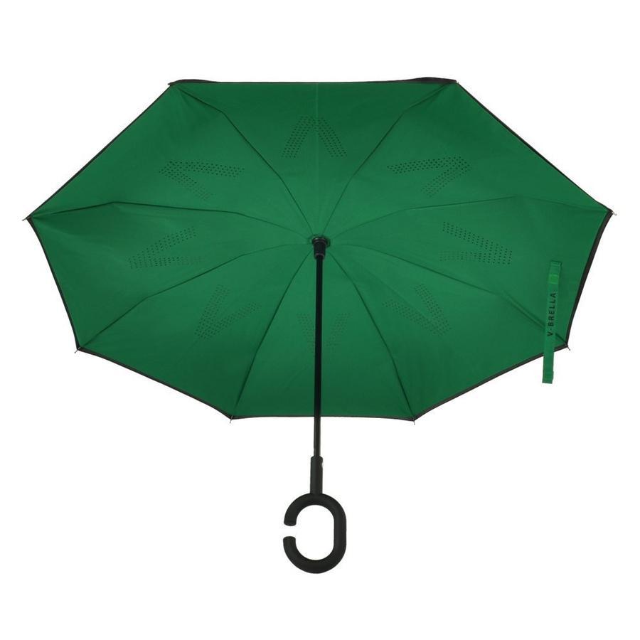 V-BRELLA ombrello inverso doppio strato con impugnatura antiscivolo in gomma