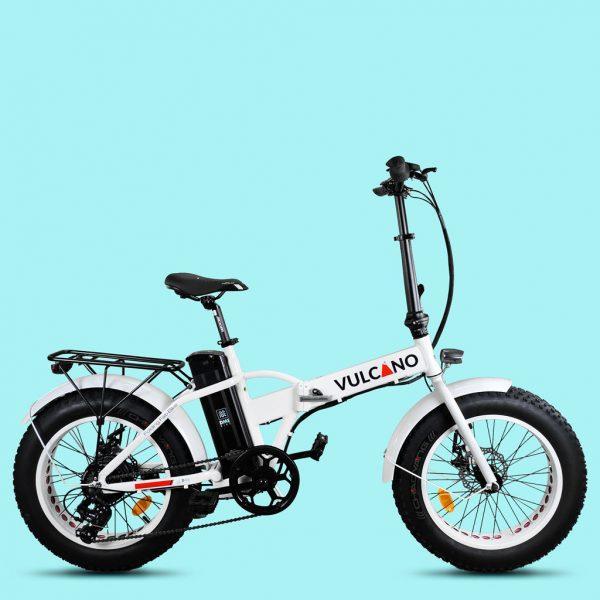 """Fat-Bike 20"""" pieghevole Bicicletta bici elettrica pedalata assistita vulcano"""