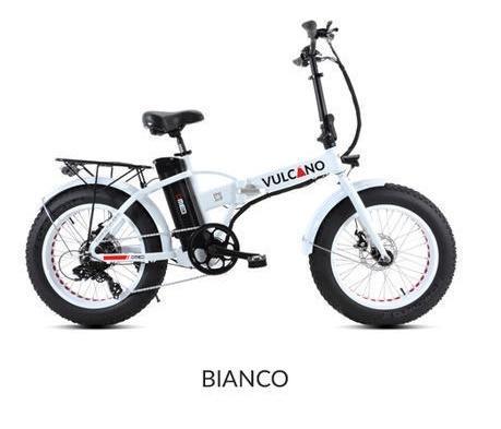 "Fat-Bike 20"" pieghevole Bicicletta elettrica pedalata assistita Vulcano 500w"