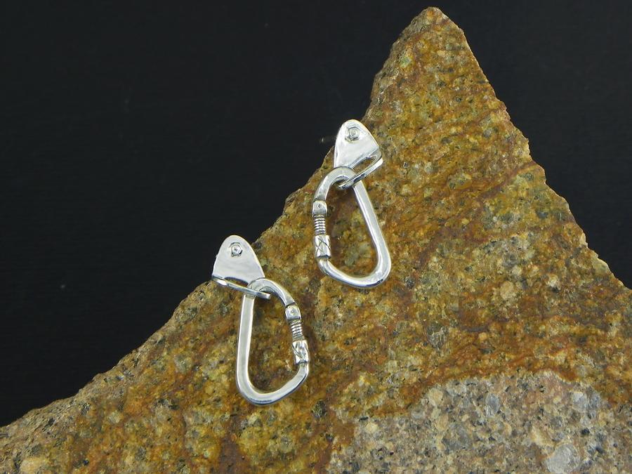 Earrings Carabiner + Spit