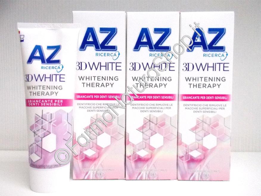 Dentifricio AZ 3D White Whitening Therapy Sbiancante Denti Sensibili