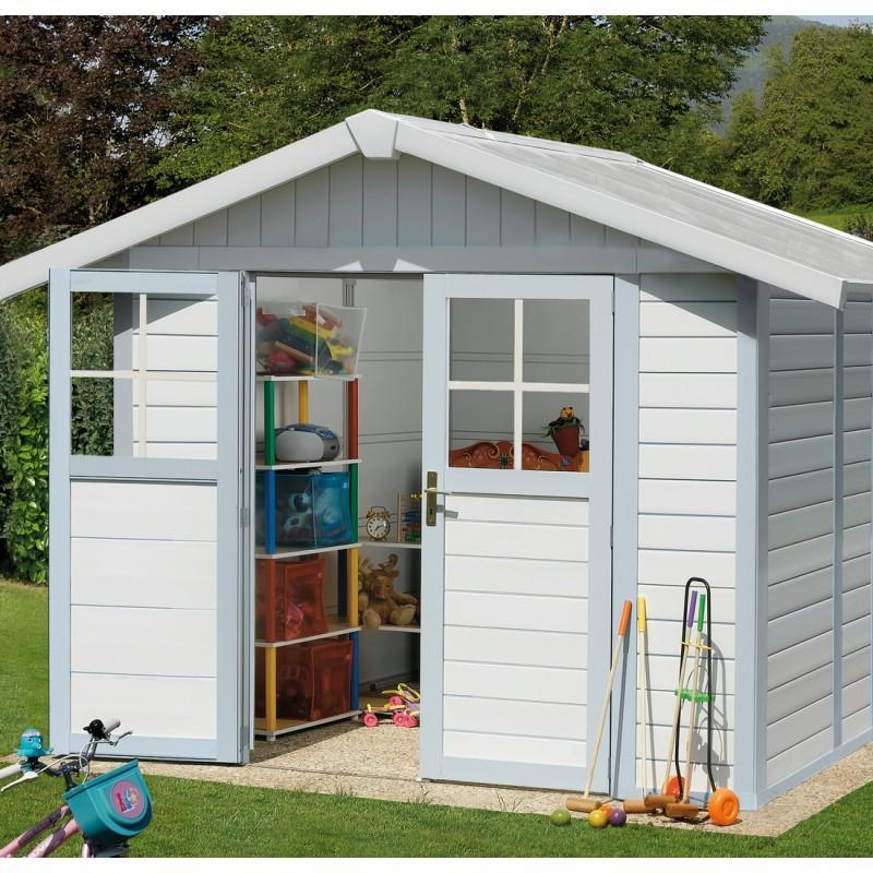 Casetta da giardino capanno attrezzi in PVC DECO 7 Grosfillex misura 315 X 239
