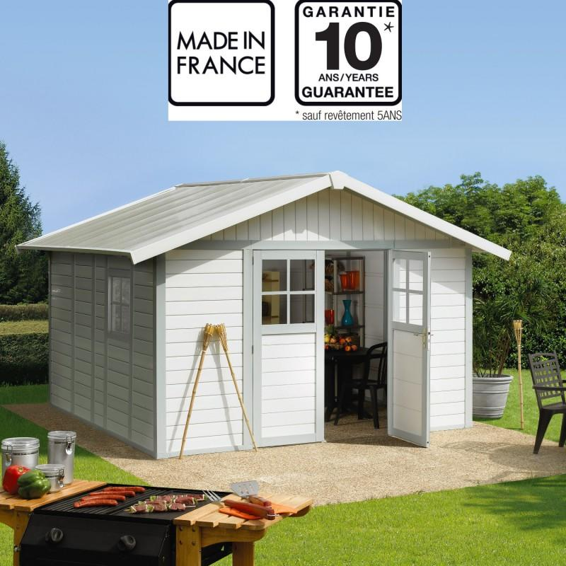 Casetta da giardino capanno attrezzi in PVC DECO 11 Grosfillex misura 315 X 355