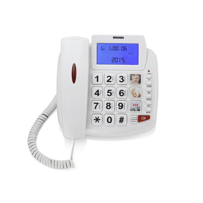 TELEFONO BRONDI FISSO BRAVO 90 LCD