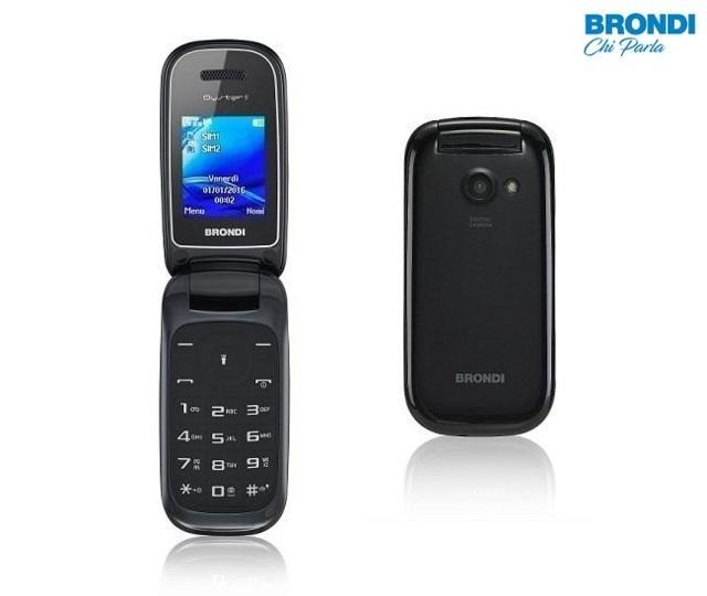 Cellulare Brondi Oyster a conchiglia Dual SIM Fotocamera 1.3MP per Anziani