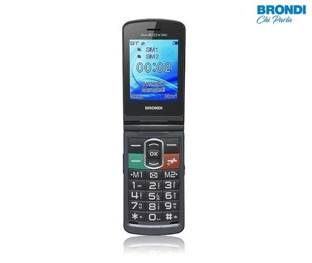 Telefono Cellulare Brondi Amico Numero Uno Dual Sim con Display a Colori