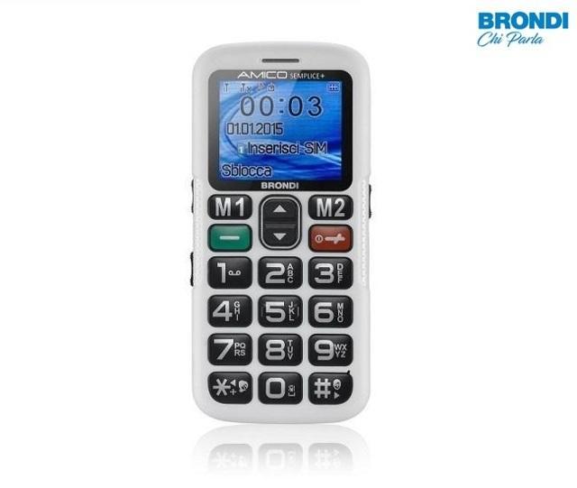 Telefono cellulare per anziani Brondi Amico semplice + grandi tasti alto volume