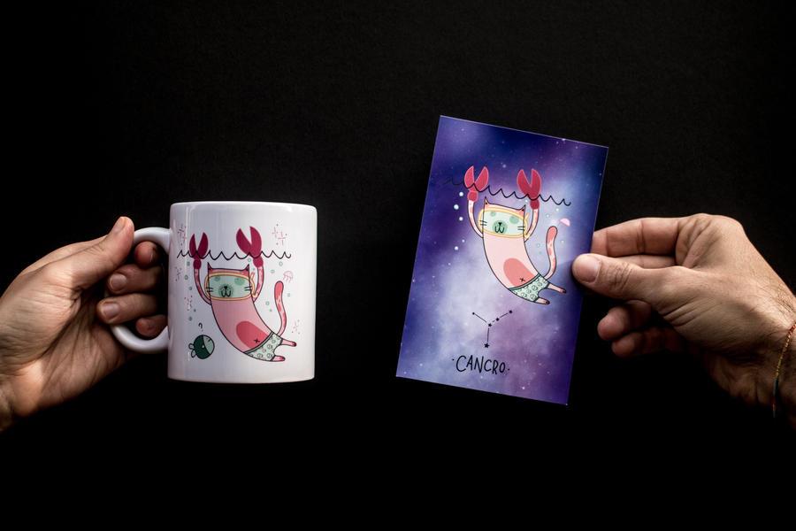 Tazza ZodiCat - Petit Pois Rose