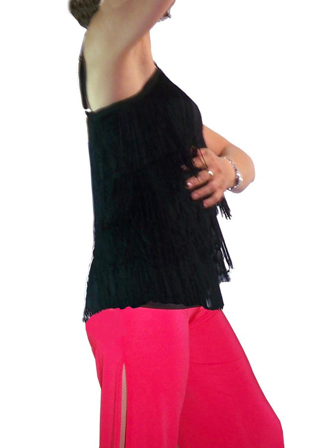 TOP STRAP FOR STRETCH WITH ROW OF FRINGE COLORED 3-0014