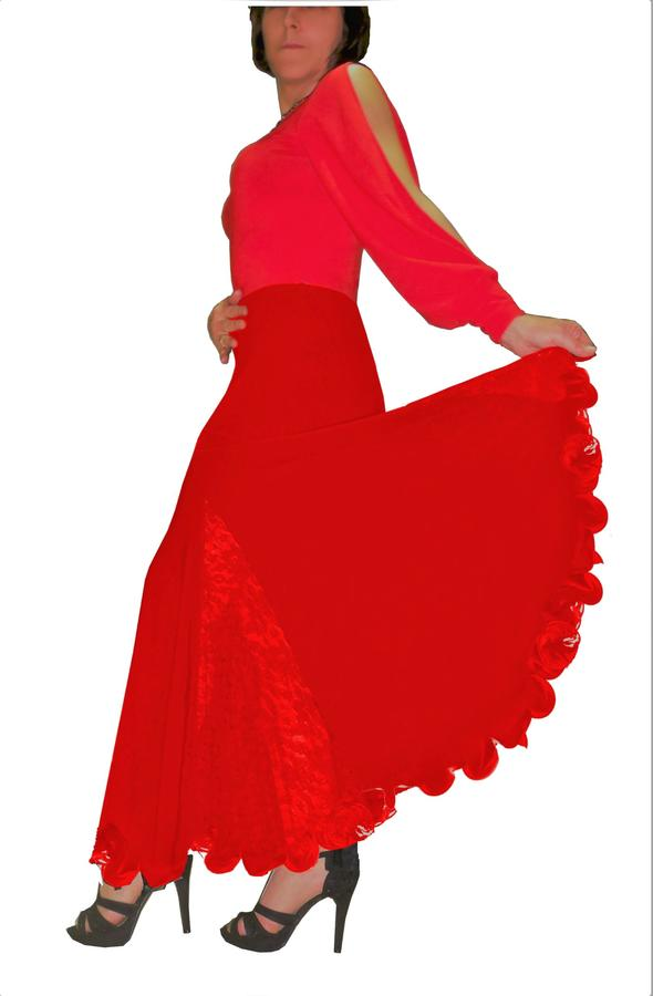 SMOOTH AND STANDARD SKIRT WITH WAVY FINAL 2-0029