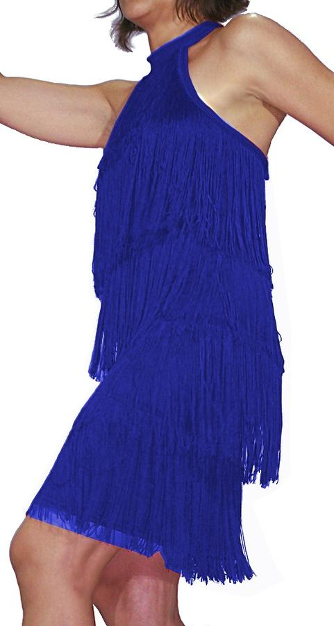 CHARLESTON DRESS WITH STRIPS WITH NECK TURTLENECK 4-0003