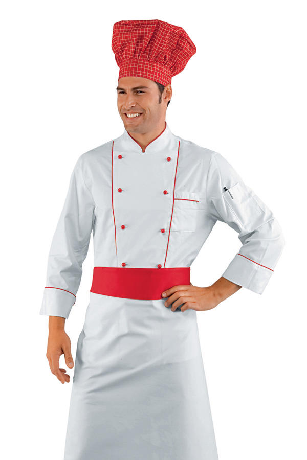 GIACCA CUOCO RED CHEF 100% COTTON