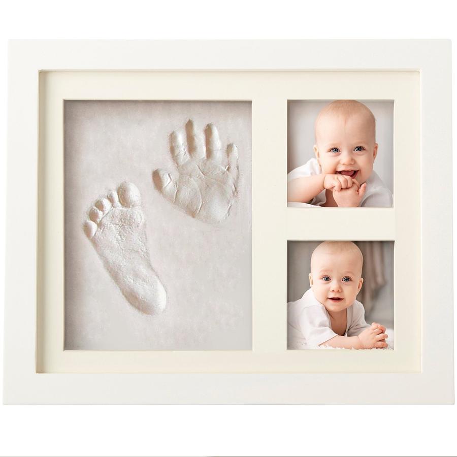 LILNAP - Kit portafoto con impronta della manina e del piedino del tuo bebè
