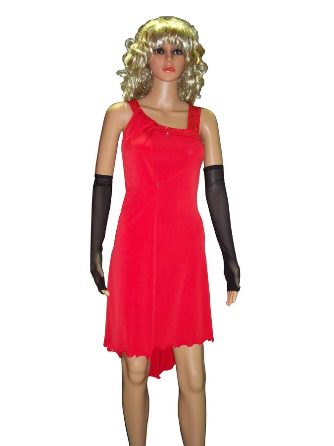 TANGO DRESS WITH SIDE PANEL IN TACTEL 4-0046