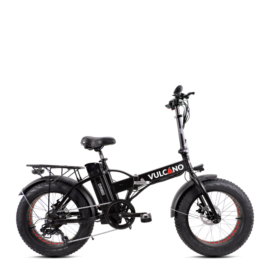 "Bicicletta elettrica Fat Bike 20"" pieghevole vulcano v2.4.2 500w 48v"