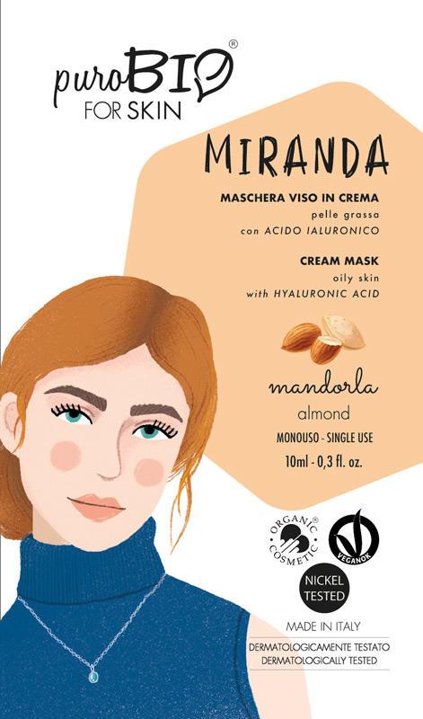 Purobio - Miranda Maschera viso in crema pelle grassa