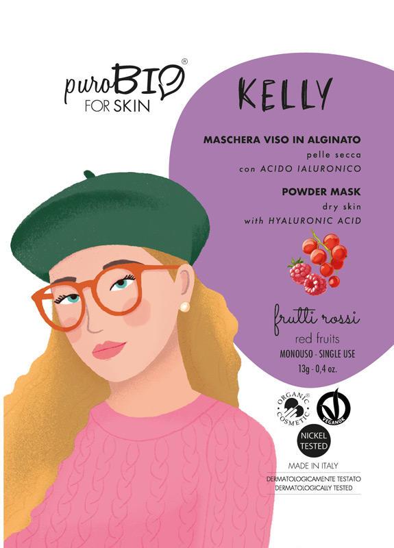 Purobio - Kelly Maschera viso in alginato pelle secca