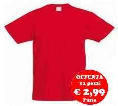 t-shirt maglietta neutra colorata bambino