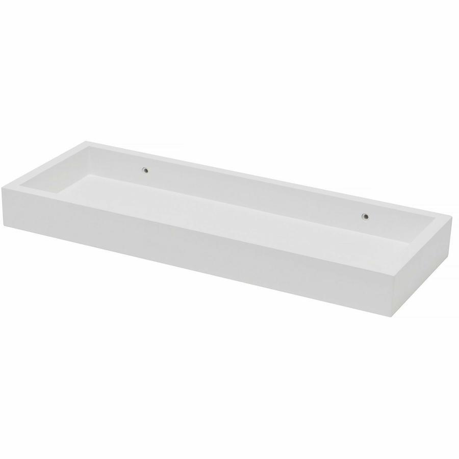 Mensola Contenitore da Parete Moderno in Legno Bianco Noce Pensile Muro Scaffale 60x15x4 cm
