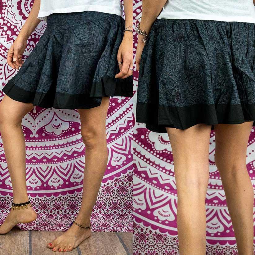 Minifalda acordeón Hita - gris oscuro