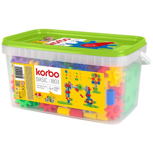 Kit di costruzioni con ingranaggi KORBO Korbo Basic 120 o 180 pz