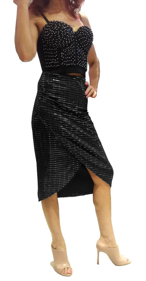 ARGENTINE TANGO SKIRT WITH TUBE WITH LATERAL OPENING 2-0038