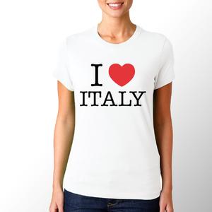 T-shirt I love Italy/Donna