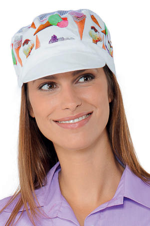 CAPPELLO CHARLY CON RETE BIANCO+ICE CREAM 65% POLYESTER  35% COTTON