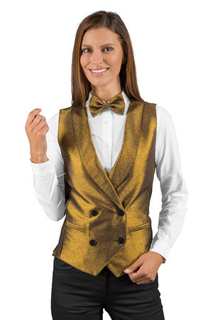 GILET DOPPIOPETTO LUREX GOLD