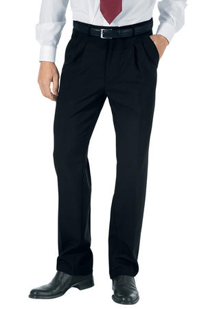 PANTALONE NERO UOMO CON 2 PINCES IN POLYESTERE LIGHT
