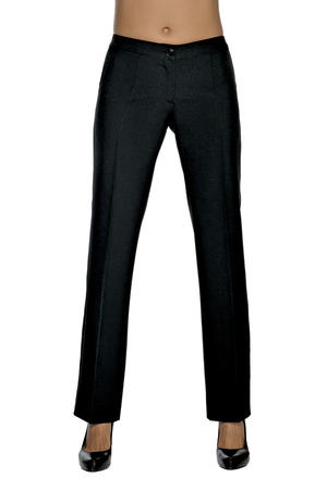 PANTALONE NERO DONNA TRENDY STRETCH IN COTONE