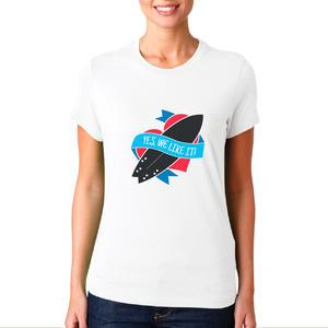 T-shirt Surf/Donna