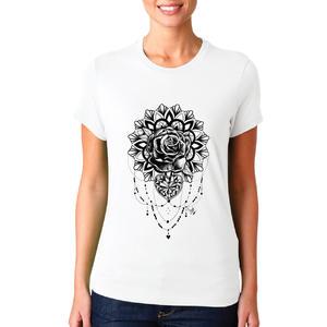 T-shirt Rosa mandala/Donna