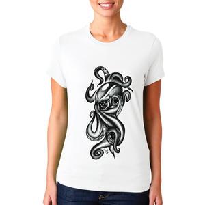 T-shirt Piovra black&white/Donna